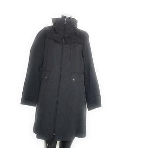 COLE HAAN Men's Size XL Black Zip Up Hooded Windbr